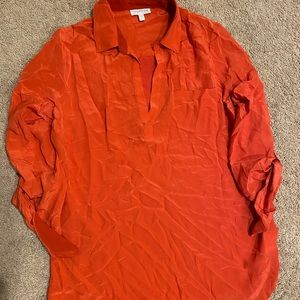 Pea in the Pod Burnt Orange Silk Blouse - S